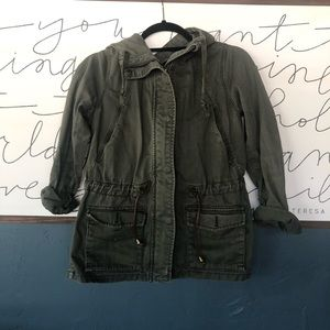 H and M Army Green Jacket